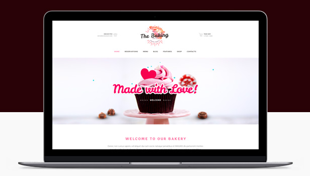Bakery - Cake Shop & Cafe Bakery WordPress Themes