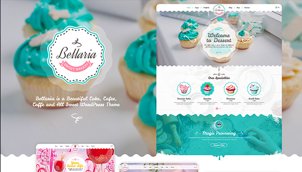Bellaria - a Delicious Cakes and Bakery WordPress Themes