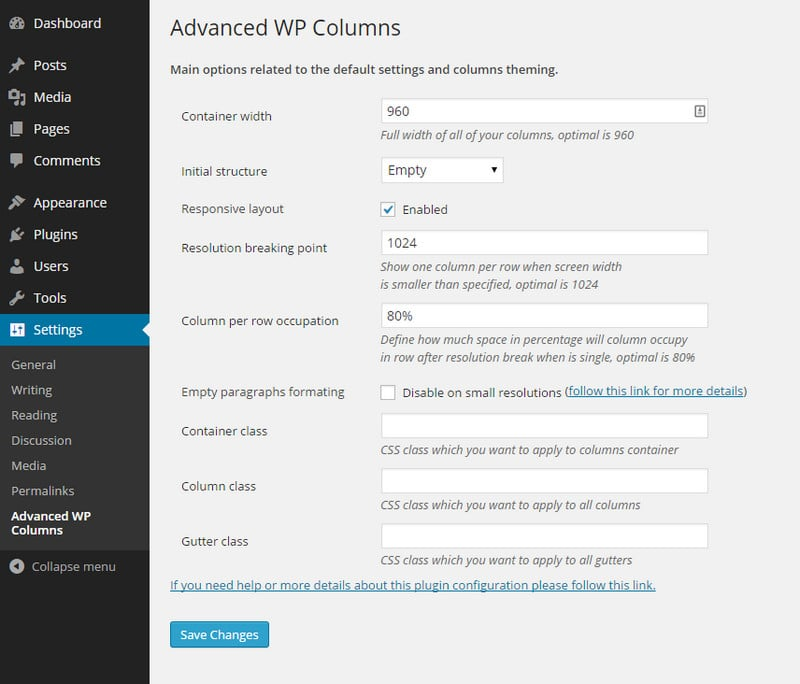 Add Columns to WordPress Post