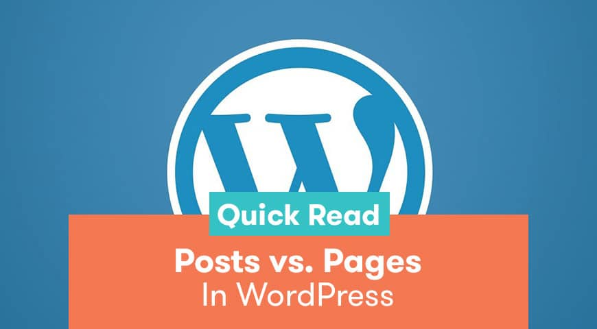 defference between post and page