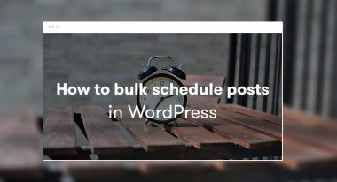 Bulk Schedule posts in wordpress