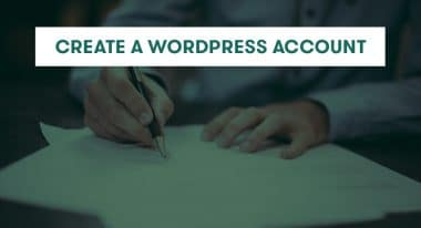 create a wordpress account
