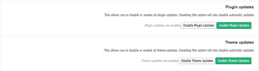 disable auto update in WordPress