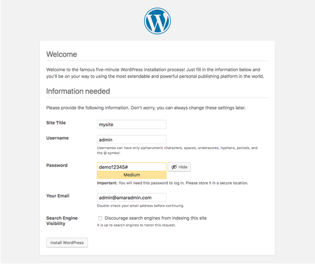 Install WordPress on Localhost