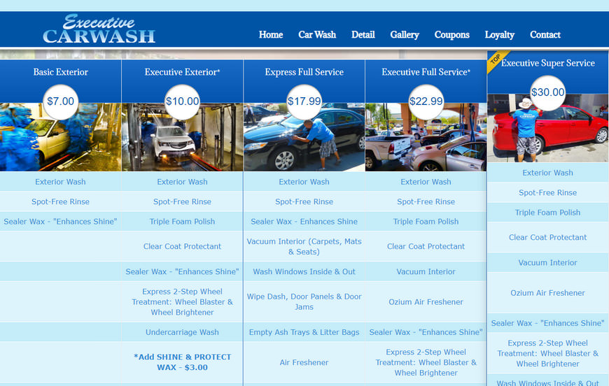 How to Create a Site for a Car Wash