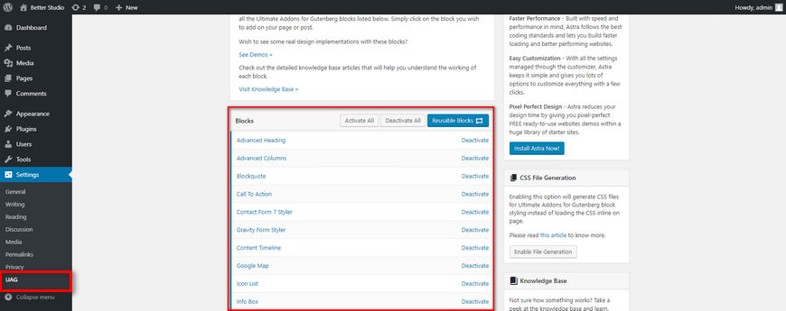 table of contents in wordpress