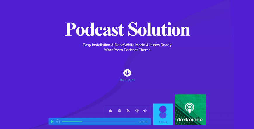 podcast wordpress theme