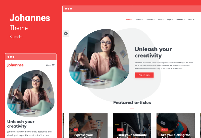 Johannes Theme - Personal Blog Theme for Authors and Publishers