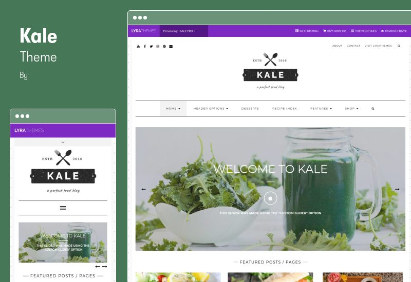 Kale Theme - The Perfect Food and Personal Blog Theme