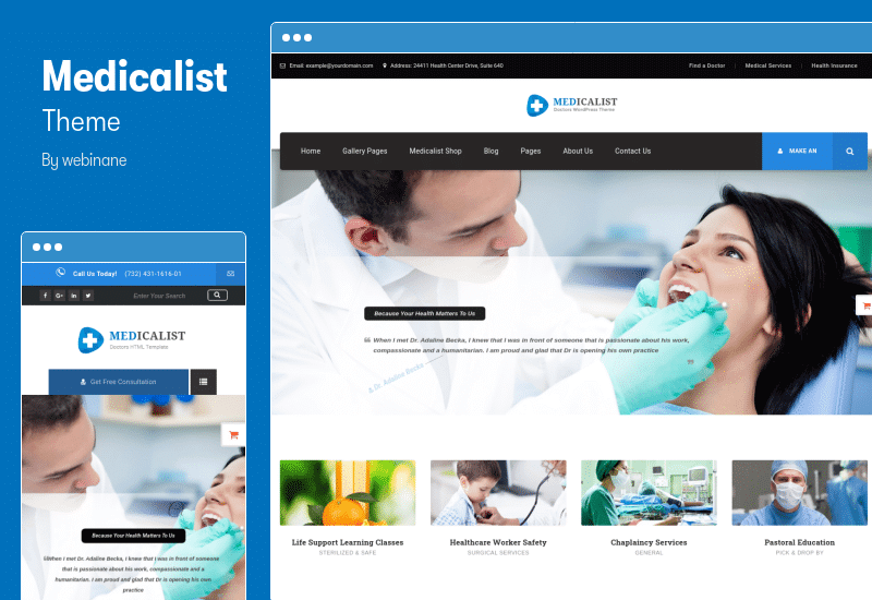 Medicalist Theme - Medical Theme with Appointment System