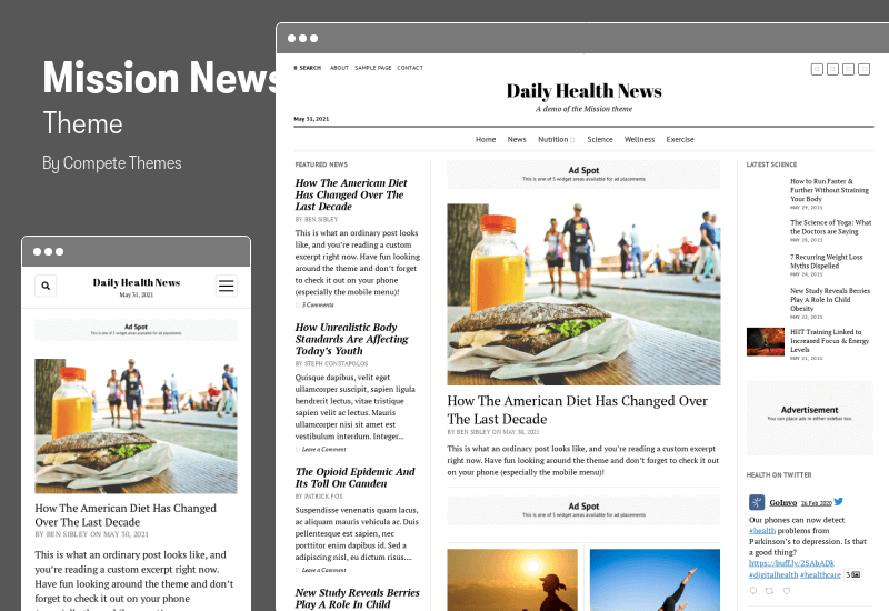 Mission News Theme - A classic and responsive news theme