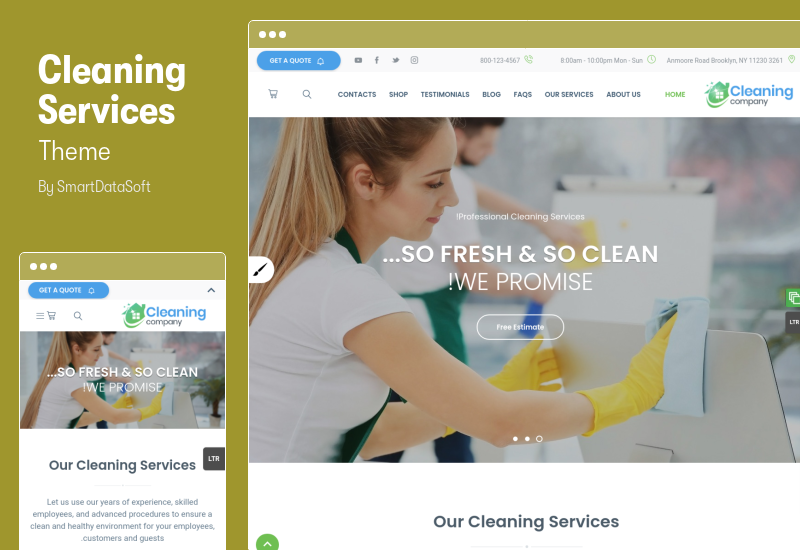 Cleaning Services Theme - RTL Cleaning Services WordPress Theme